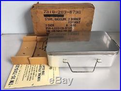 Vintage Military Coleman 2 Burner Stove in Original Box 4/66 Vietnam Era