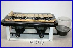 Vintage New Sears 2 Burner Portable Kerosene Camping Cooking Stove Original Box