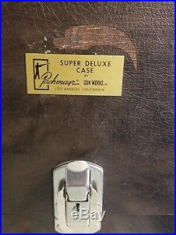 Vintage Pachmayr Four Pistol Super Deluxe Gun Case+Shooting Range Targets, Misc
