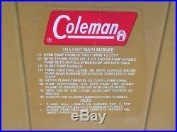 Vintage Rare Gold Mustard Coleman Burner Camping Stove Model 413g