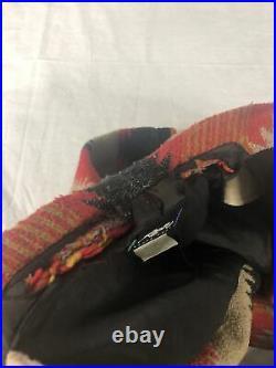 Vintage Roper Range Gear Long Western Blanket Coat Wool Blend USA Ladies Large