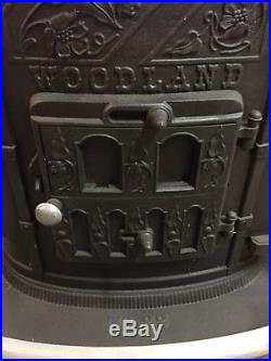 Vintage Wood Burning Stove Malven Gordon & Co. Port Jervis WOODLAND No. 22