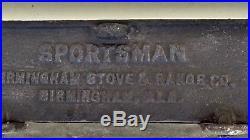 Vintage cast iron sportsman out door grill fish fryer birmingham stove & range