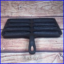 Vtg BSR Birmingham Stove & Range HANDY DAN Cast Iron Corn Stick Pan RESTORED