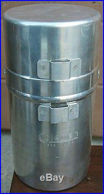Vtg. COLEMAN 530 A-47 ARMY G. I. Pocket CAMPING STOVE withHEATER ATTACHMENTNICE