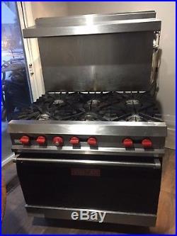 Vulcan 6 Burner Gas Range Oven Stove