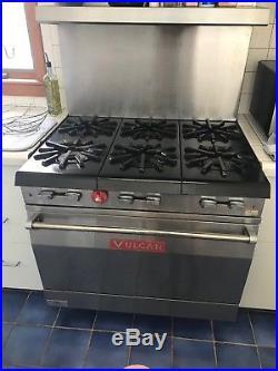 Vulcan 6 burner gas stove/range