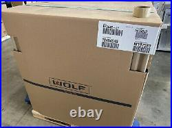 WOLF DF364C-LP 36 DUAL FUEL RANGE WithINFRARED CHAR-BROILER