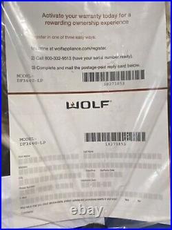 WOLF DF364-G 36 DUAL FUEL RANGE 4 BURNERS WithGRIDDLE (LP)