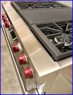 Watch Testing on YouTube 36 Wolf Dual Fuel Range Stove with Grill DF364C
